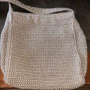 The sak crochet purse tan cross body